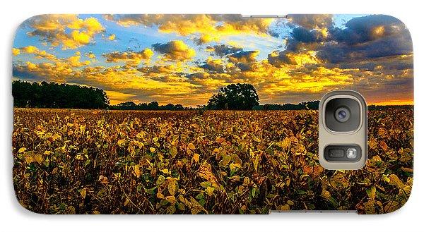 Galaxy Case featuring the photograph Bean Field Splendor  by John Harding