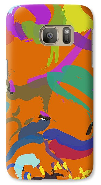 Galaxy Case featuring the painting Bear  by Go Van Kampen