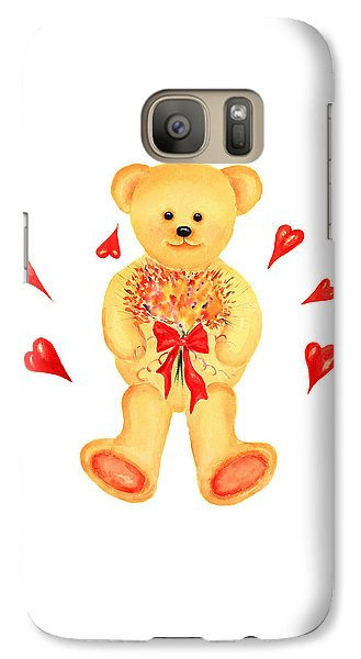 Galaxy Case featuring the painting Bear In Love by Elizabeth Lock