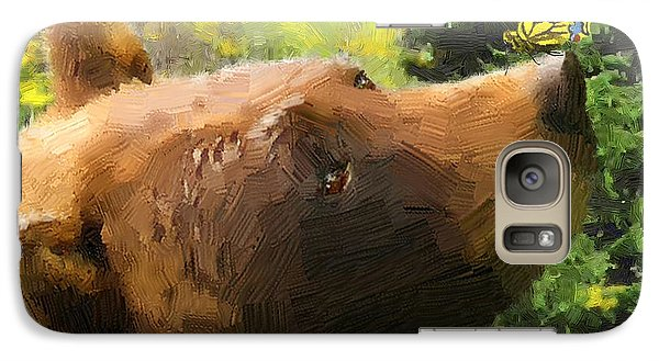Galaxy Case featuring the painting Bear - N - Butterfly Effect by Doug Kreuger