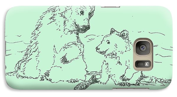 Galaxy Case featuring the drawing Bear Necessities by Denise Fulmer
