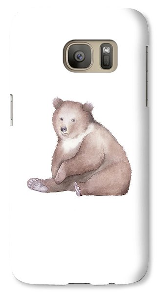 Galaxy Case featuring the painting Bear Watercolor by Taylan Apukovska