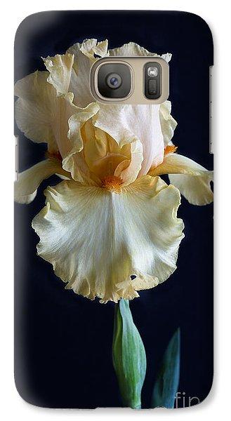 Galaxy Case featuring the photograph Bearded Iris 3 by Elena Nosyreva
