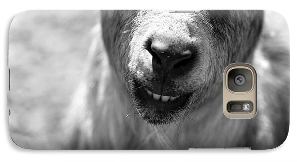 Galaxy Case featuring the photograph Beardy Smiley by Angela Rath