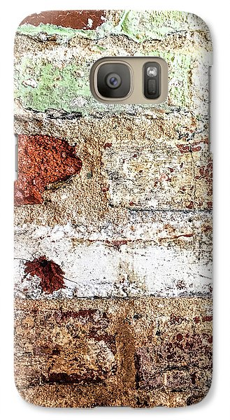 Galaxy Case featuring the photograph Beaten Brick Wall by Andrew Soundarajan