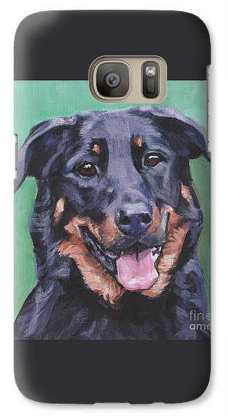 Galaxy Case featuring the painting Beauceron Portrait by Lee Ann Shepard