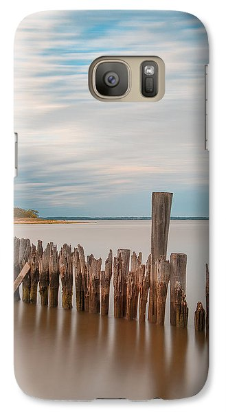 Beautiful Aging Pilings In Keyport Galaxy S7 Case