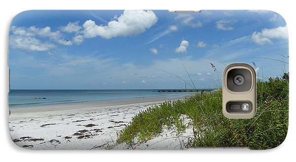 Galaxy Case featuring the photograph Beautiful Beach Day by Carol  Bradley