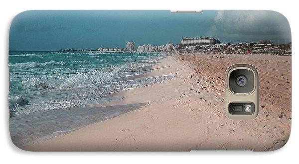Galaxy S7 Case - Beautiful Beach In Cancun, Mexico by Nicolas Gabriel Gonzalez