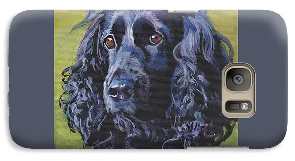 Galaxy Case featuring the painting Beautiful Black English Cocker Spaniel by Lee Ann Shepard