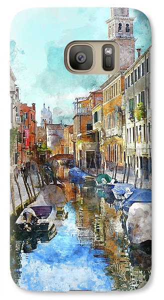 Beautiful Boats In Venice, Italy Galaxy S7 Case