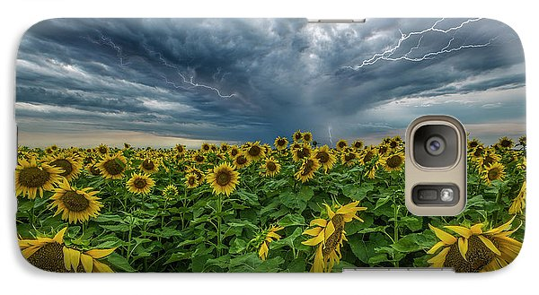Galaxy Case featuring the photograph Beautiful Disaster  by Aaron J Groen