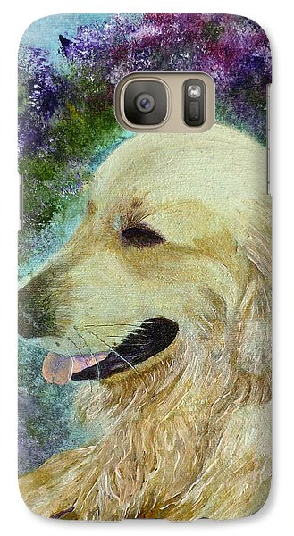 Galaxy S7 Case featuring the painting Beautiful Golden by Claire Bull