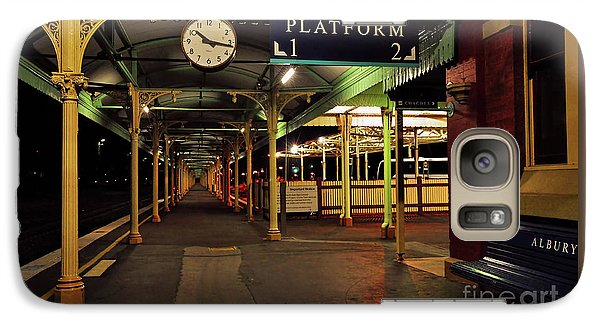 Galaxy Case featuring the photograph Beautiful Old Albury Station By Kaye Menner by Kaye Menner