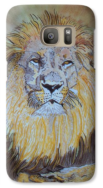 Galaxy Case featuring the painting Beautiful Pose Of The King by Connie Valasco