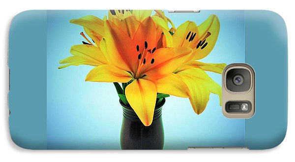 Galaxy Case featuring the photograph Beautiful Royal Lilies  by Ray Shrewsberry