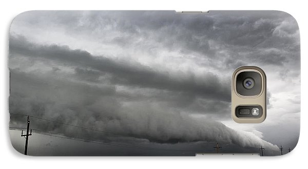 Galaxy Case featuring the photograph Beautiful Shelf Cloud by Ryan Crouse