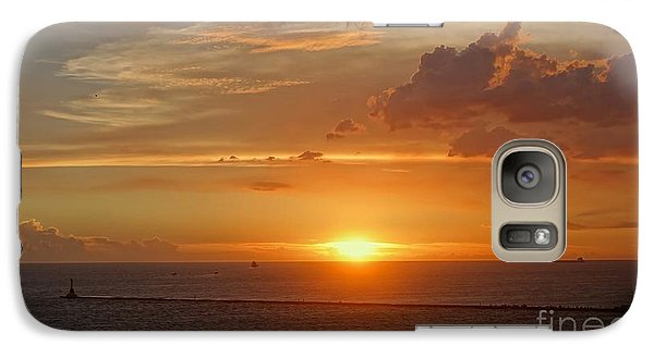 Galaxy Case featuring the photograph Beautiful Sunset At Kaohsiung Harbor by Yali Shi