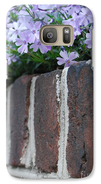 Galaxy Case featuring the photograph Beauty And Bricks by Linda Mesibov
