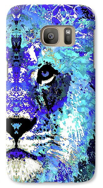 Galaxy Case featuring the painting Beauty And The Beast - Lion Art - Sharon Cummings by Sharon Cummings