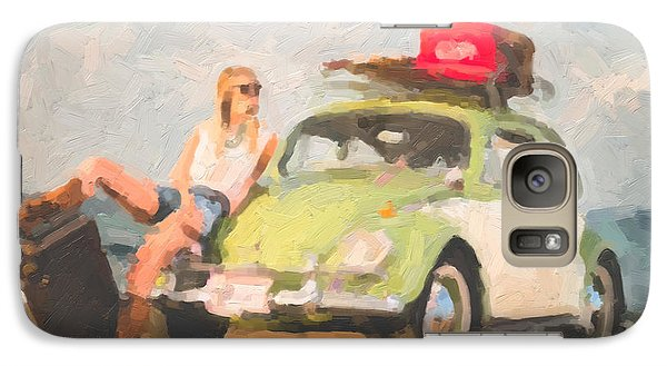 Galaxy Case featuring the digital art Beauty And The Beetle - Road Trip No.1 by Serge Averbukh