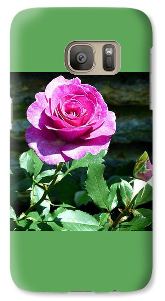 Galaxy Case featuring the photograph Beauty And The Bud by Will Borden