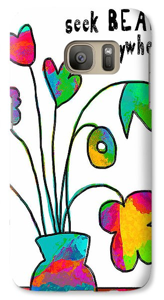 Galaxy Case featuring the painting Beauty Everywhere by Lisa Weedn