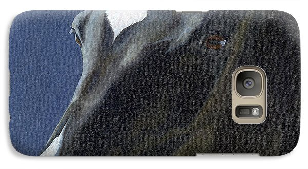 Galaxy Case featuring the painting Beauty In Black by Alecia Underhill
