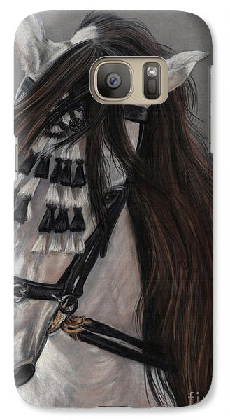 Galaxy Case featuring the painting Beauty In Hand by Sheri Gordon