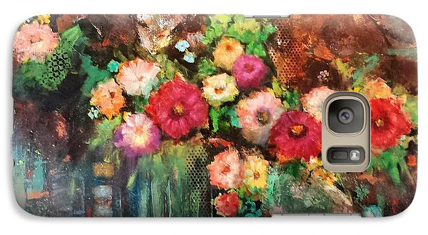 Galaxy Case featuring the painting Beauty In The Cracks by Frances Marino