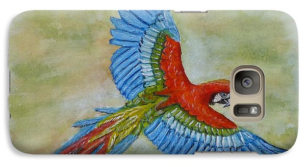 Galaxy Case featuring the painting Beauty In The Sky ... Parrot by Kelly Mills