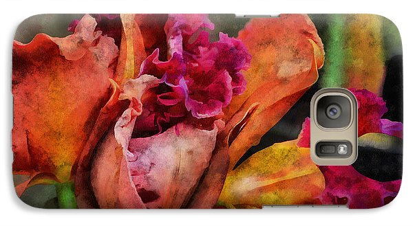 Galaxy Case featuring the mixed media Beauty Of An Orchid by Trish Tritz