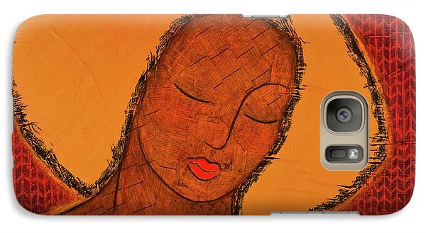 Galaxy Case featuring the mixed media Beauty Of Silence by Gloria Rothrock