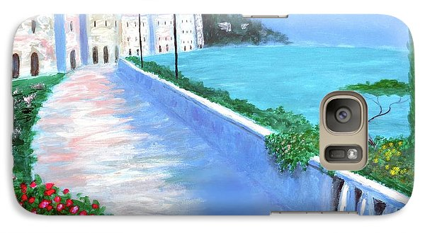 Galaxy Case featuring the painting Beauty Of The Riviera by Larry Cirigliano