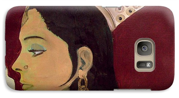 Galaxy Case featuring the mixed media Beauty Queen Of The Mughals by Saad Hasnain