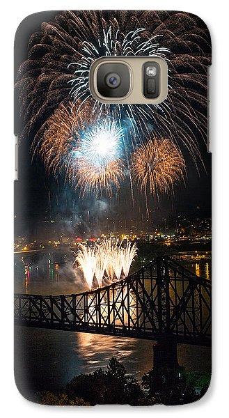 Beaver Galaxy S7 Case - Beaver County Fireworks 2 by Emmanuel Panagiotakis