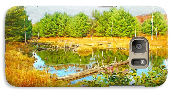 Beaver Galaxy S7 Case - Beaver Pond by Laura D Young