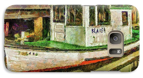 Galaxy Case featuring the photograph Beaver The Old Fishing Boat by Thom Zehrfeld