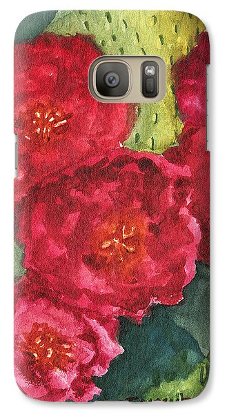 Galaxy Case featuring the painting Beavertail Cactus by Eric Samuelson