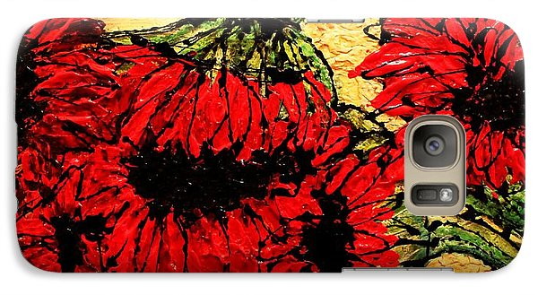Galaxy Case featuring the painting Because I Care by Laura  Grisham