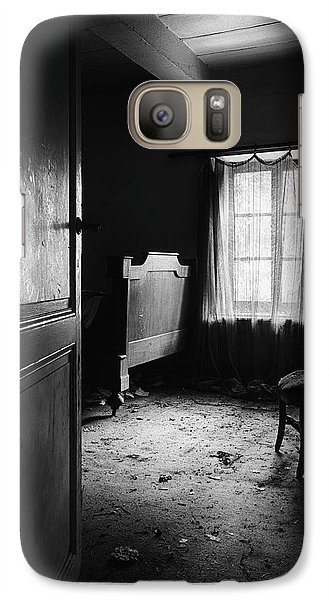 Galaxy Case featuring the photograph Bed Room Chair - Abandoned Building by Dirk Ercken