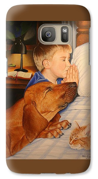 Galaxy Case featuring the painting Bed Time Prayers by Mike Ivey