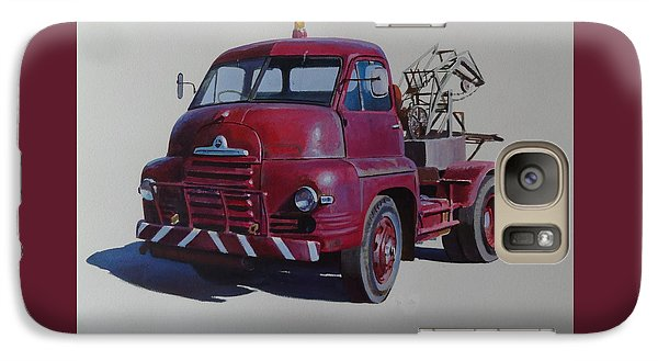 Galaxy Case featuring the painting Bedford S Type Wrecker. by Mike  Jeffries