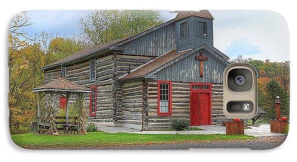 Galaxy Case featuring the digital art Bedford Village Church by Sharon Batdorf