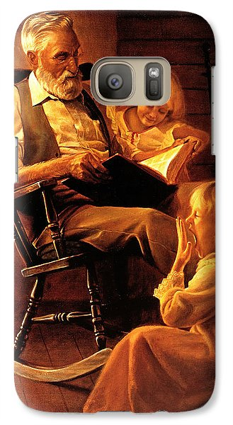 Galaxy Case featuring the painting Bedtime Stories by Greg Olsen