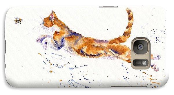 Cat Galaxy S7 Case - Bee Airborne by Debra Hall