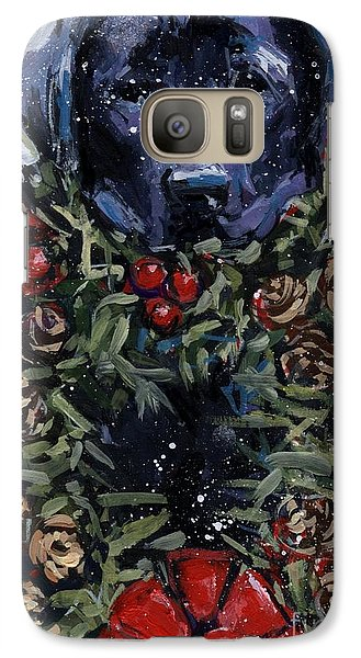 Galaxy Case featuring the painting Bee Bows by Molly Poole