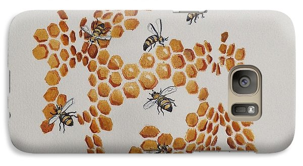 Galaxy Case featuring the painting Bee Hive # 2 by Katherine Young-Beck