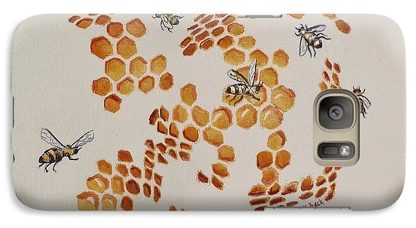 Galaxy Case featuring the painting Bee Hive # 3 by Katherine Young-Beck