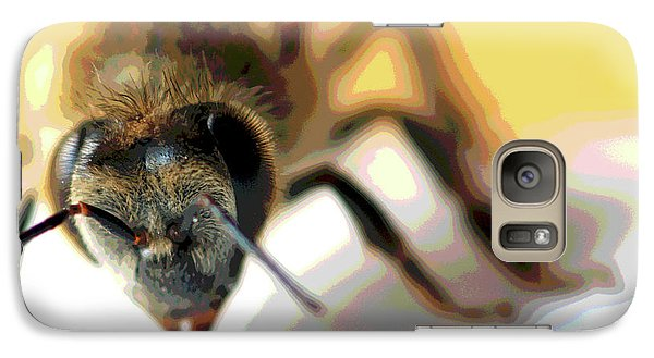 Galaxy Case featuring the photograph Bee In Macro 5 by Micah May
